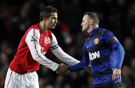Robin van Persie and Wayne Rooney would become teammates at Manchester United next season
