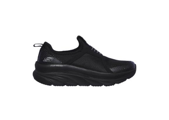 Skechers Pantofi sport slip-on de femei negri cu insertii de plasa reducere