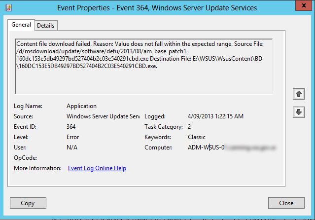 Clint Boessen's Blog: Windows Server 2012 WSUS Server Not