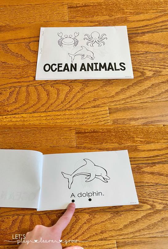 Ocean Animals Emergent Reader Free