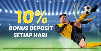 Bonus Deposit 10% Harian
