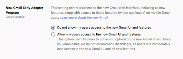 New Gmail for G Suite Accounts