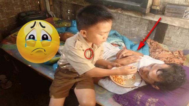 Kisah Pilu, Bocah SD Rawat Ayahnya yang Lumpuh Seorang Diri