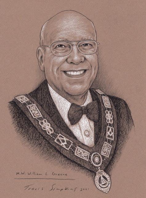 M.W. William L. Greene. Past Grand Master. Grand Lodge of Connecticut. by Travis Simpkins