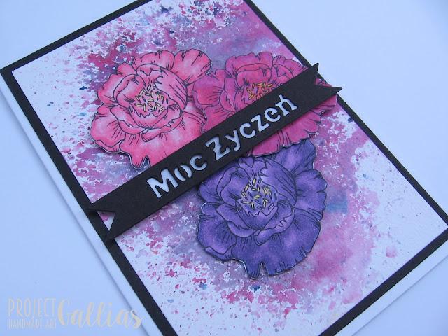 ProjectGallias dla Agateria Craft: Peonie w trzech kolorach