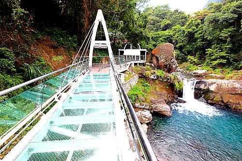 戲遊臺灣 TaiwanEnjoy: 獨一無二的瀑布主題:小烏來天空步道