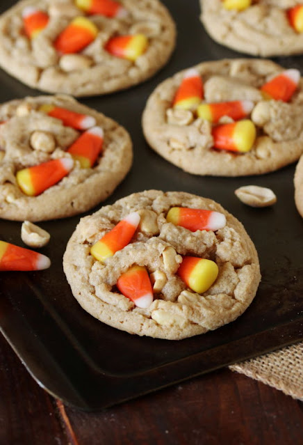 Candy Corn Peanut Butter Cookies Image