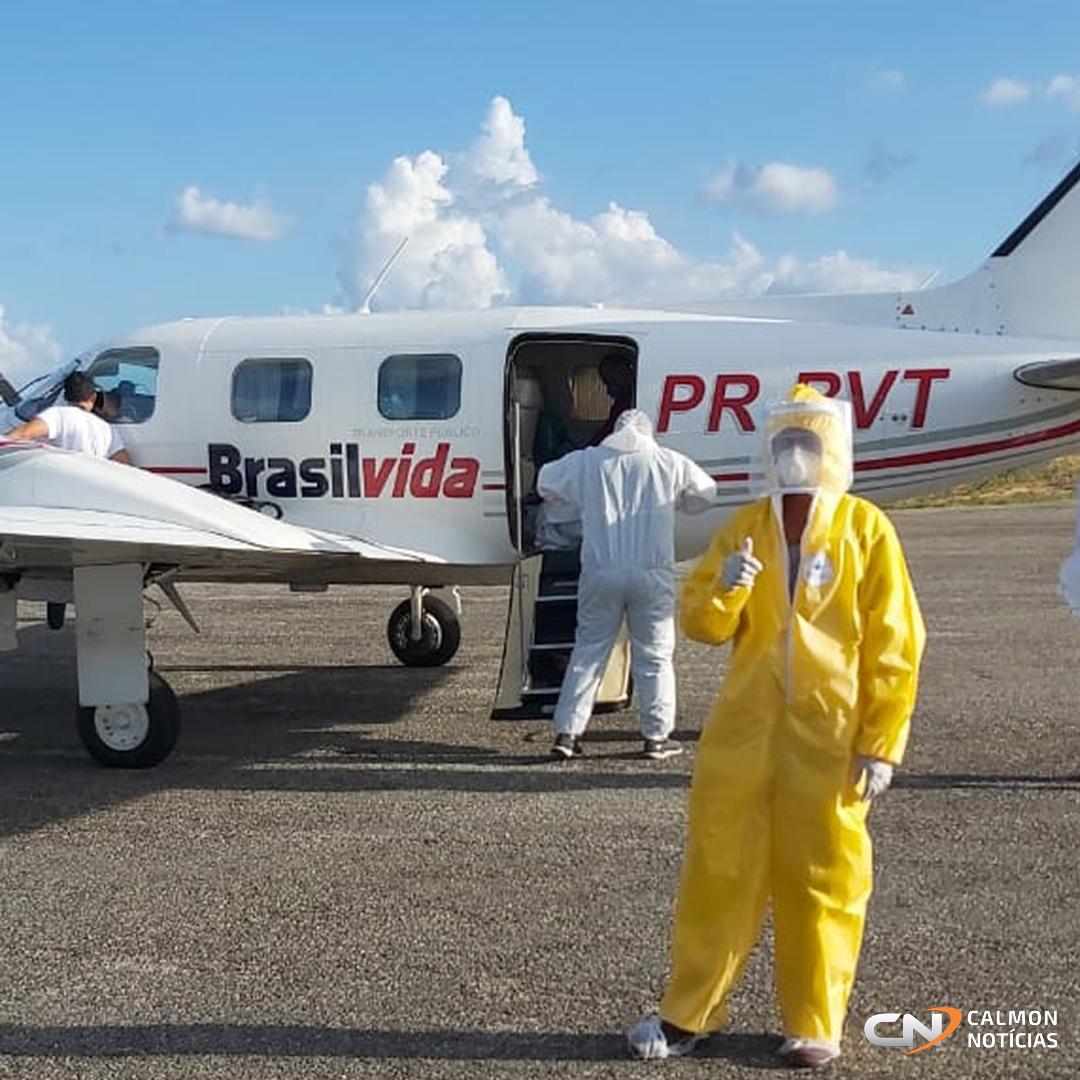 Miguel Calmon: Mais um paciente com COVID-19 é transferido para Salvador em UTI aérea - Confira