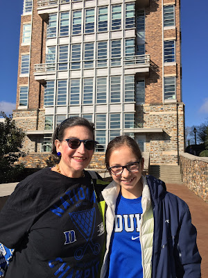 Karen Kriendler Nelson with her granddaughter Simone on the campus of Duke University, Durham, North Carolina; January 2016
