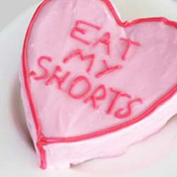 conversation candy lolly heart cake inspiration