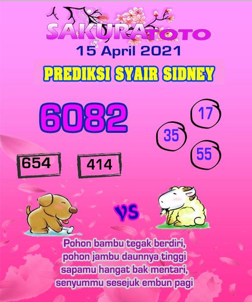 Syair Sakuratoto Sidney Kamis 15 April 2021