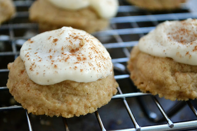 cappuccino melting moments cookies on a rack
