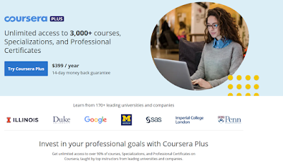 Coursera Plus - best way to take Coursera Courses