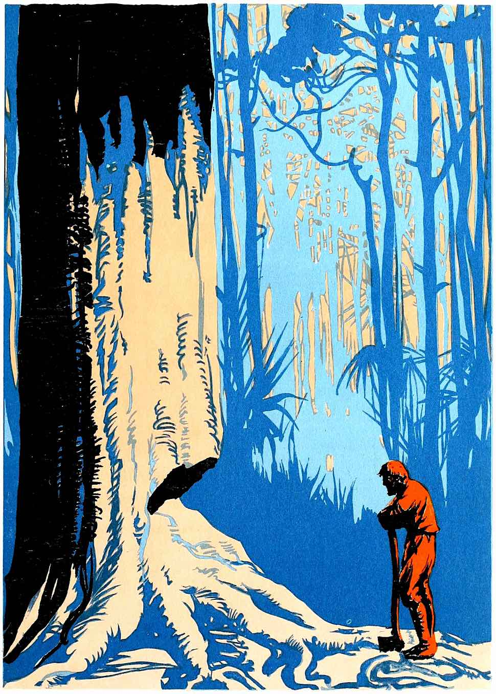 a tree as an adversary by EA Verpilleux 1931, Robinson Cruso