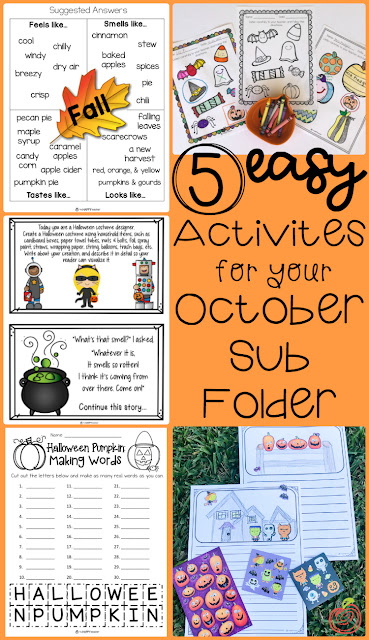 Halloween Fall activities and printables for the classroom