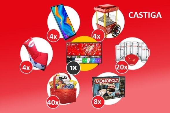 Castiga 1 televizor LG Led + 4 Telefoane Huawei P30 Lite + 4 Aparate Popcorn + 4 Scaune Square Mogyi - concurs - gsp - recunoaste - bucuria - 2020 - castiga.net