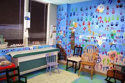 pintar paredes con huellas