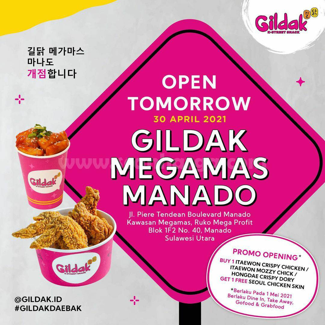 GILDAK Megamas Manado Grand Opening Promo – BELI 1 GRATIS 1