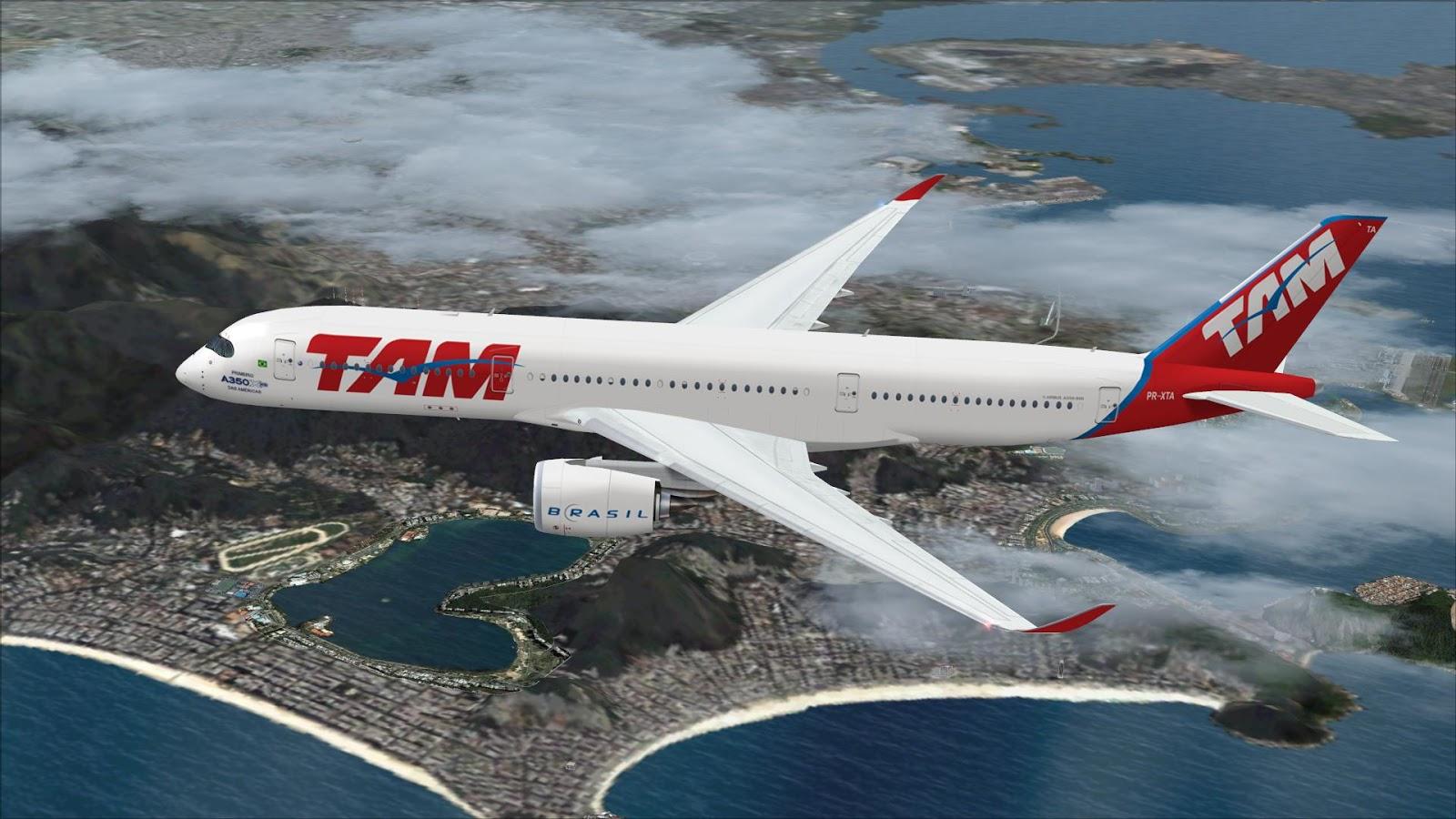FSRepainter: TRAFFIC AI FSPXAI A350-900 LATAM Brazil PR-XTA