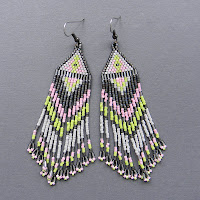 mative american seed bead earrings beaded jewelry beadwork traditional