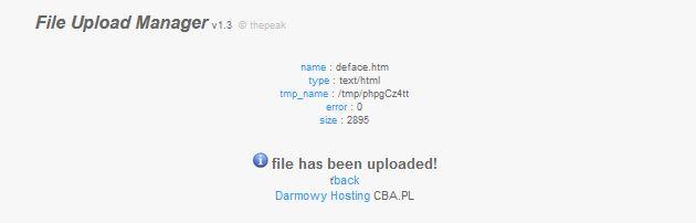 Deface Dengan File Upload Manger v1.3 Rename To