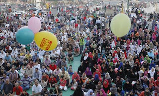 Eid al-Fitr prayers dates Egypt