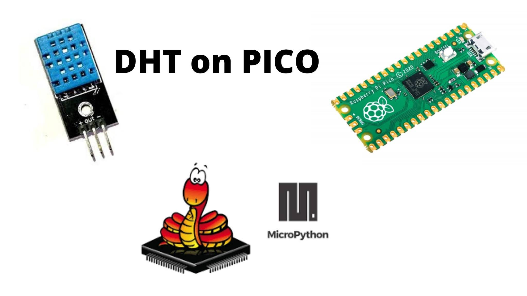 DHT sensor with Raspberry Pi Pico -micropython