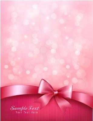 vector fondo rosa con lazo