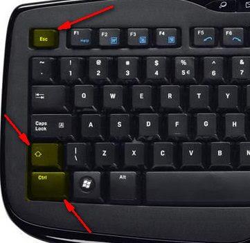 طريقة فقتح مدير المهام من لوحة المفاتيح اضغط في نفس الوقت على Ctrl + Shift + Eecape
