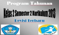 Program Tahunan Kelas 2 Semester 2 Kurikulum 2013 Revisi Terbaru