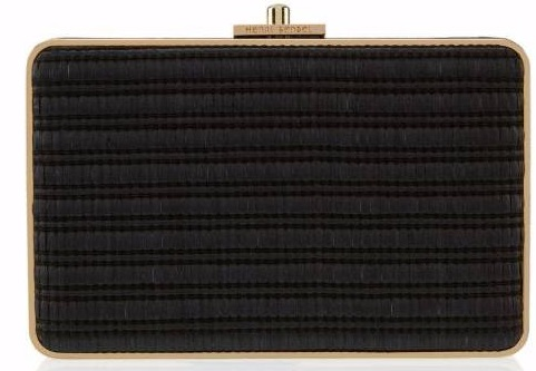 Henri Bendel Straw Party Starter Box in Black