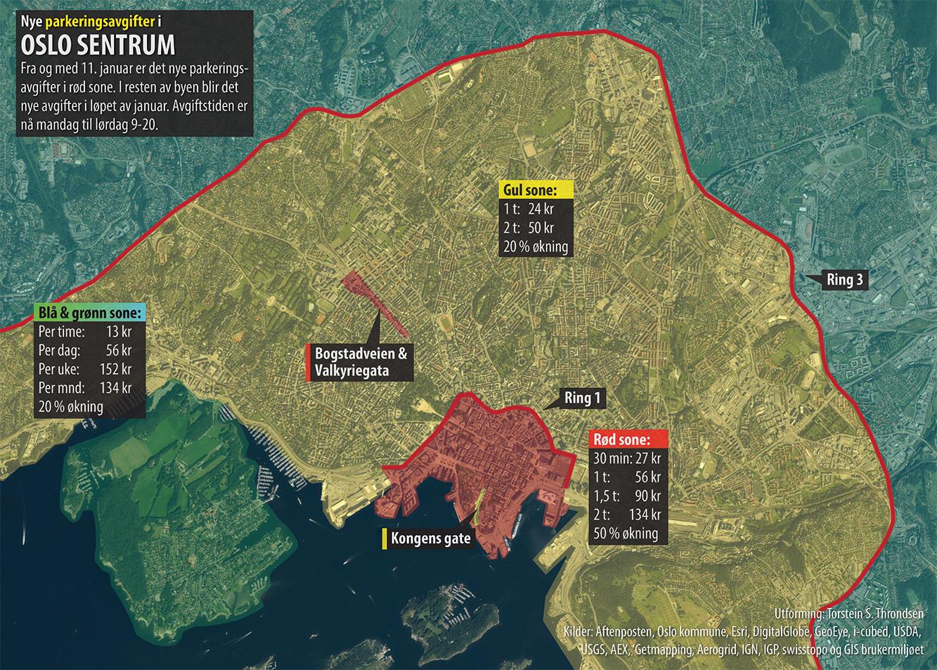 aftenposten kart Kart og grafer om alt: Dyrere å parkere i Oslo aftenposten kart