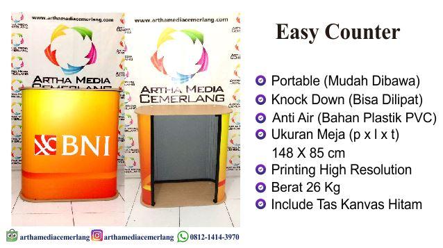 Meja Promosi Easy Counter Portable