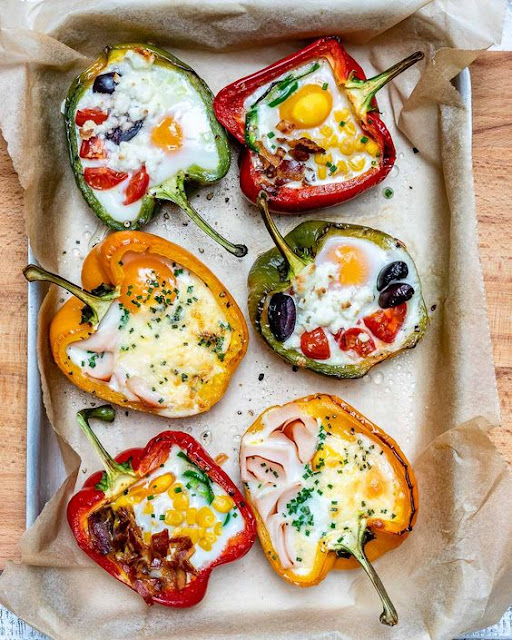 Egg Stuffed Breakfast Peppers for Epic Clean Eating Mornings!