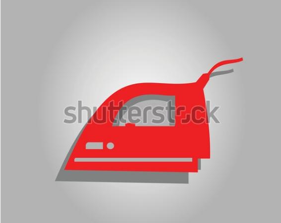 illustration image smoothing iron sign