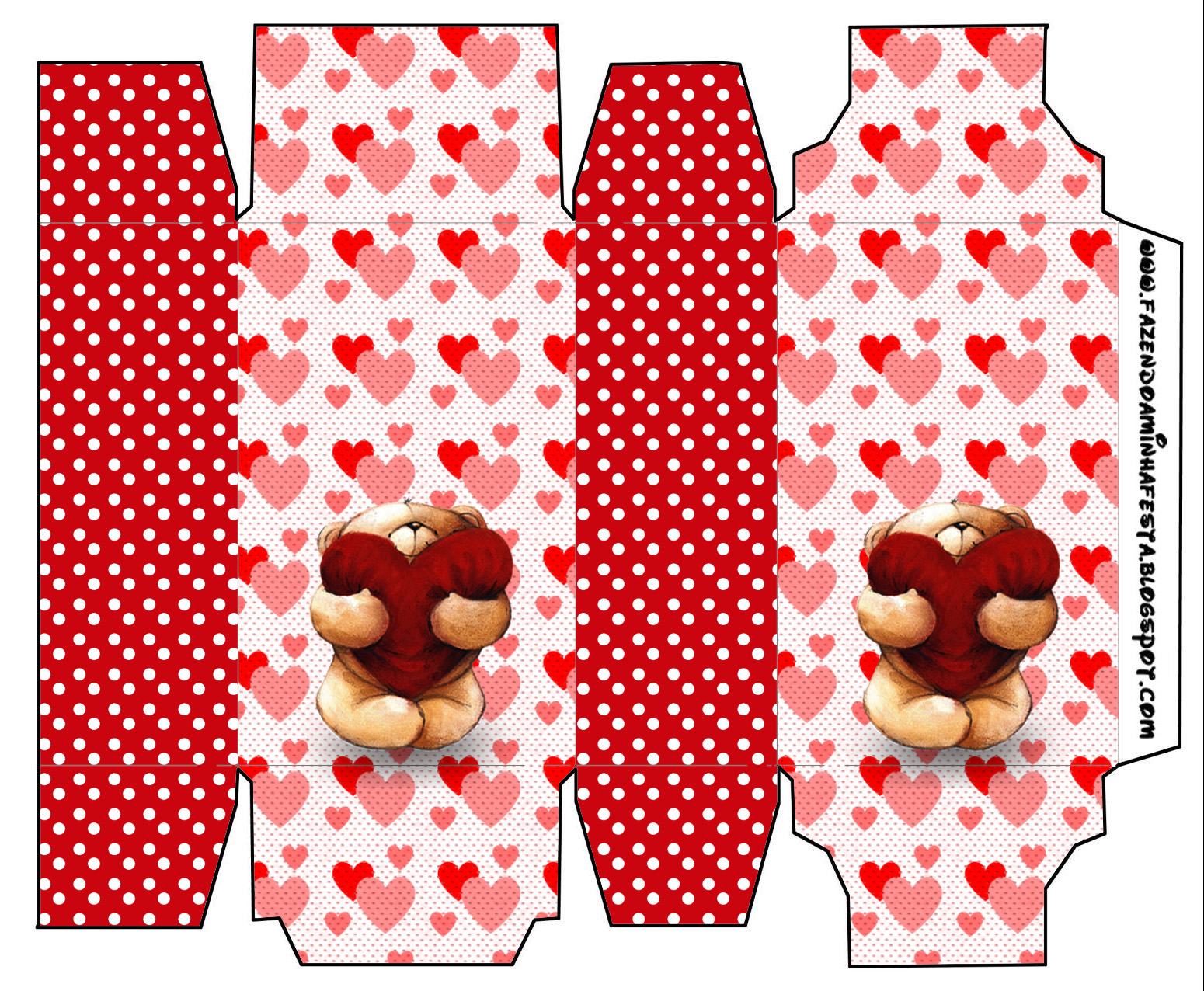 Teddy Bear In Love Free Printable Boxes