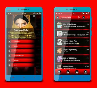 BBM Red Angel Sad v2.12.0.9 Apk Terbaru