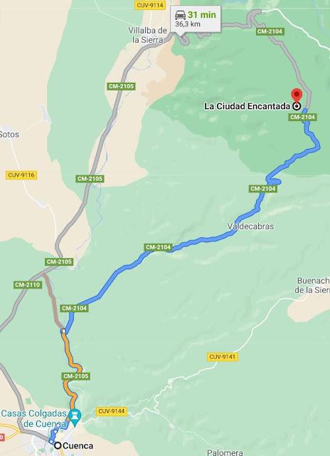 como llegar a la Ciudad Encantada Cuenca
