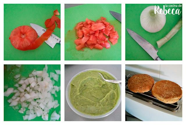 Receta de guacamole con sardinas en pan de semillas 01