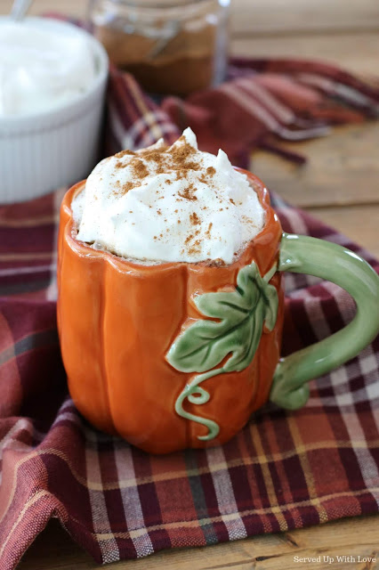 Pumpkin Spice Latte in a pumpkin shaped cup