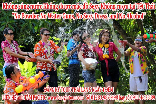 Không súng nước, không bột màu, không rượu, không sex trong Tết Thái