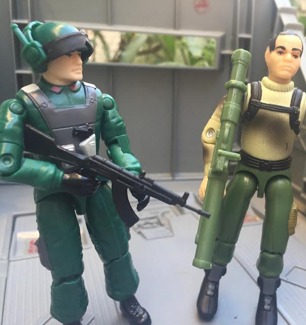 1998 Thunderwing, Thunder, 1997 Zap, Snake Eyes, Bazooka Soldier, Slugger, MOBAT