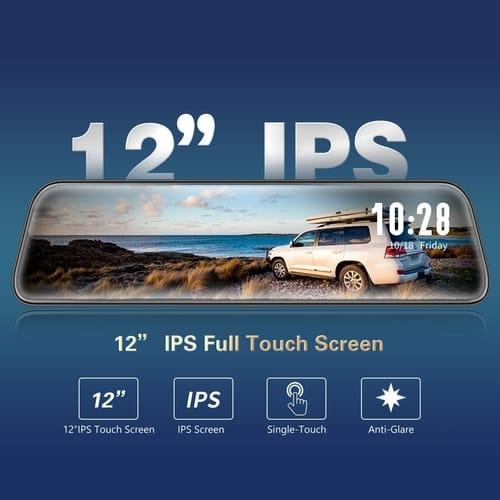 WOLFBOX G840H 2.5K Mirror Dash Cam for Cars
