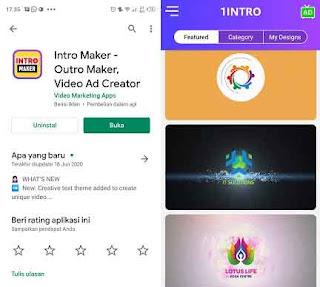 aplikasi pembuat intro youtube di hp android gratis
