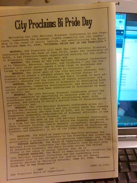 Huge 1990s Bi Level Remodel: BiNet USA's Blog: First U.S. Bisexual Pride Day Held In 1990