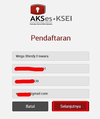 Formulir Pendaftaran Akun AKSes KSEI