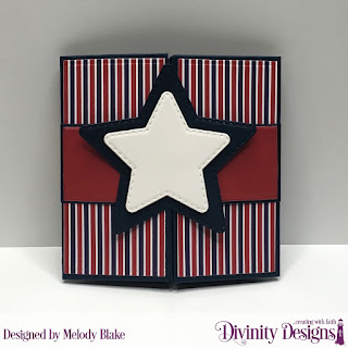 Stamp/Die Duos: Sweet Land of Liberty, Custom Dies: Pop Out Card with Layers, Belly Band, Double Stitched Circles, Double Stitched Stars, Paper Collection: America the Beautiful