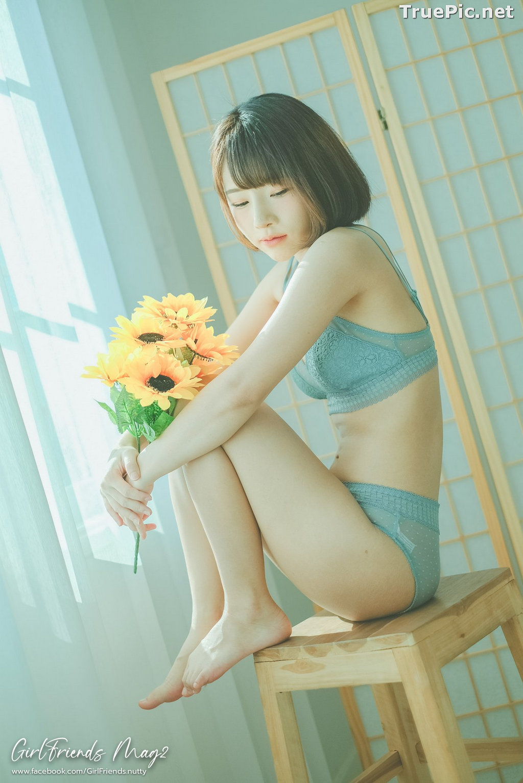 Image Thailand Model - Ar Yumi - Sun Flower and Light Blue Lingerie - TruePic.net - Picture-15
