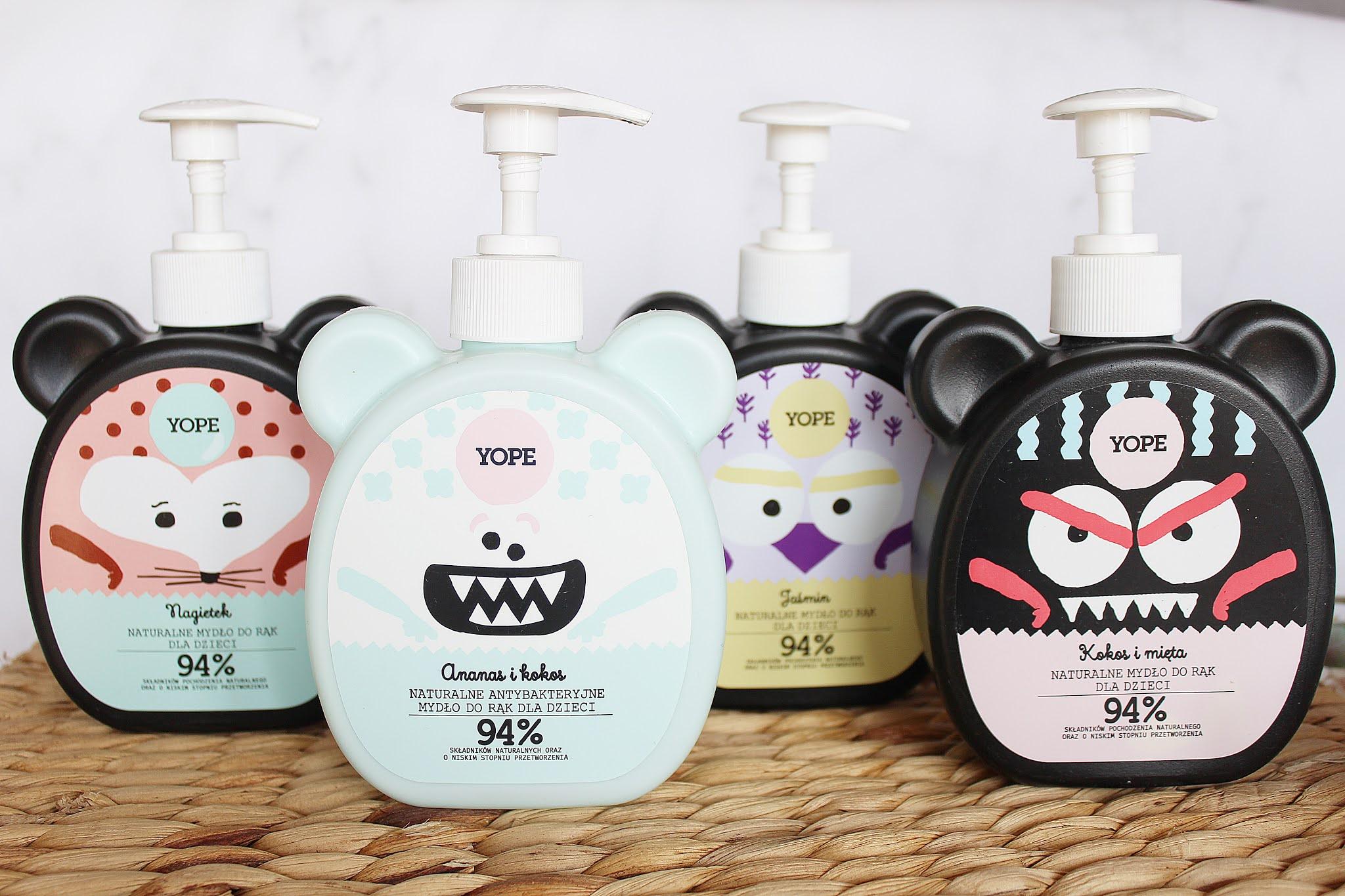 Naturalne mydła do rąk dla dzieci Yope - ulubione kosmetyki mojego przedszkolaka