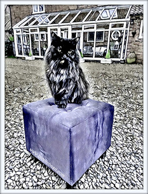 Pandora's Purrple Pouffe Selfie ©BionicBasil® Puzzle